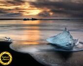 Iceland | Jokulsarlon Ice Beach | Aluminum Print