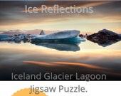 Iceland : Glacier Lagoon Reflection | 252 Piece Puzzle