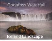 Iceland : Godafoss waterfall rock | 252 Piece Puzzle
