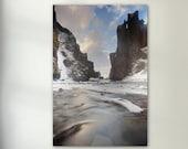 Iceland Landscape River Gorge - Vertical Archival Matte Print :  landscape
