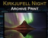 Kirkjufell Aurora - Archival Matte Print