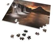 Iceland : Kirkjufellsfoss waterfall summer  | 252 Piece Puzzle