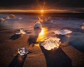 Iceland : Dawn Star on Canvas