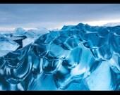 Blue, Diamond Ice - Aluminum Print