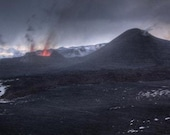 Volcano landscape - Aluminum Print