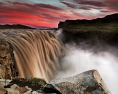 Iceland : Dettifoss Red on Canvas