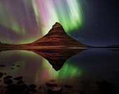 Iceland : Kirkjufell Aurora on Canvas