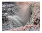 Iceland : Frozen Gullfoss Waterfall 252 Piece Puzzle