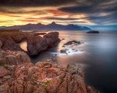 Iceland : Vattarnes Cliffs on Canvas