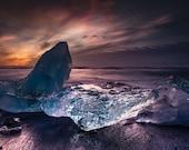 Iceland : Nacreous Dawn on Canvas 2