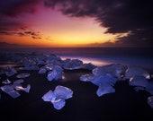 Iceland : Velvet Beach Premium Photo Print