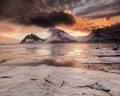 Iceland : Brunahorn Ice on Canvas