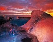 Iceland : Ice Pool Premium Photo Paper