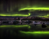 Iceland : Night of Ghosts on Canvas
