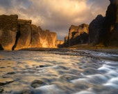 Lights River Gorge on Canvas : Iceland Landscape