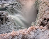 Gullfoss Waterfall on Canvas : Iceland Landscape