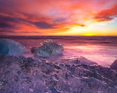 Glacier Ripples - Aluminum Print : Jokulsarlon Iceland