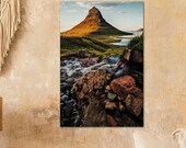 Iceland Landscape Kirkjufell Mountain Vertical - Archival Matte Print :  mountain