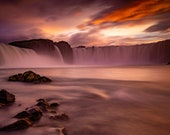 Godafoss Rocks on Canvas : Iceland waterfall