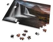 Iceland : Kirkjufellsfoss waterfall  | 252 Piece Puzzle