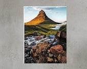 Iceland Landscape Iceland : Kirkjufell Summer V Photo premium print