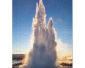Iceland : Geyser eruption 252 Piece Puzzle