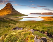 Kirkjufell Summer on Canvas : Iceland Landscape