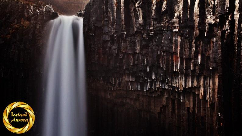 Svartifoss Waterfall. Skaftafell Iceland  Printable image 0