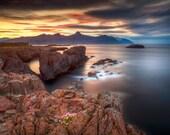 Vattarnes Cliffs on Canvas : coastline East Iceland