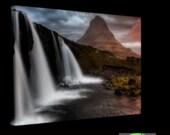 Kirkjufellsfoss on Canvas : Iceland waterfall