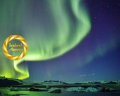 Spirit of Jokulsarlon - Northern Lights Iceland -  Aurora Wall Art, Vertical Photo Print