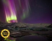 Vatnjokull Northern lights, Iceland - Limited Edition Print: Iceland aurora