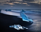 Jolly Roger on Canvas : Diamond Beach Iceland