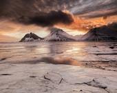 Brunahorn Ice on Canvas : Iceland Landscape