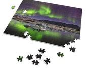 Iceland Puzzle | Northern lights at Jokulsarlon | 252 Pieces