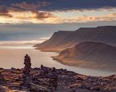 Iceland Westfjords Panorama Aluminum Print
