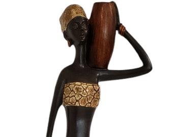 Decorative Sculpture,Home Accessory,Design sculpture,Christmas gift Woman statue,Woman Bust Sculpture,african statues,Black Woman sculpture