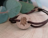 Armband Lotusblüte, Yoga-Symbol,  Holz Ø 1,8cm