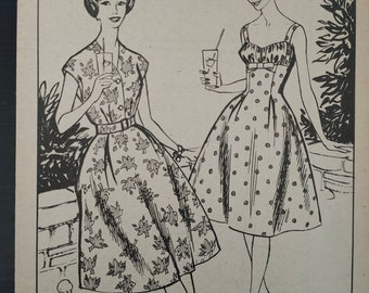 Copy of a vintage sewing pattern 1959 summer dress with jacket size 42