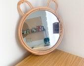 Rattan Bear Mirror - Sass Belle Baby Shower Gift Nursery Mirror Nursery Decor
