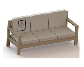 DIY OUTDOOR SOFA - Plans / Build your own / Patio Furniture 2x4 lumber
