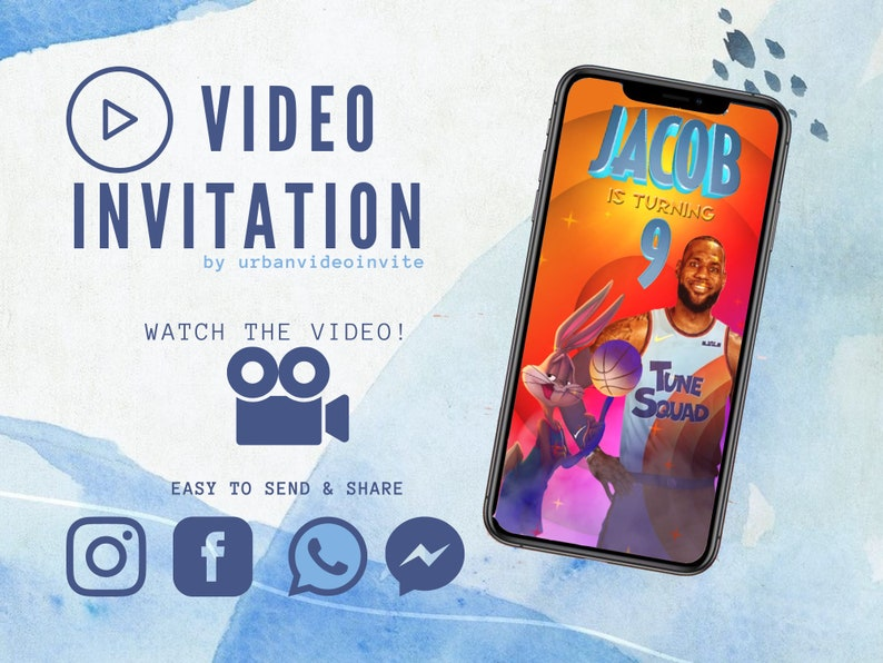 Space Jam: A New Legacy Invitation Space Jam Video image 0
