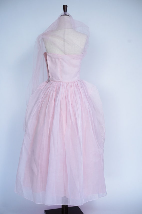 Pretty in Pink 1950s Vintage Pink Prom/ Party Dre… - image 4