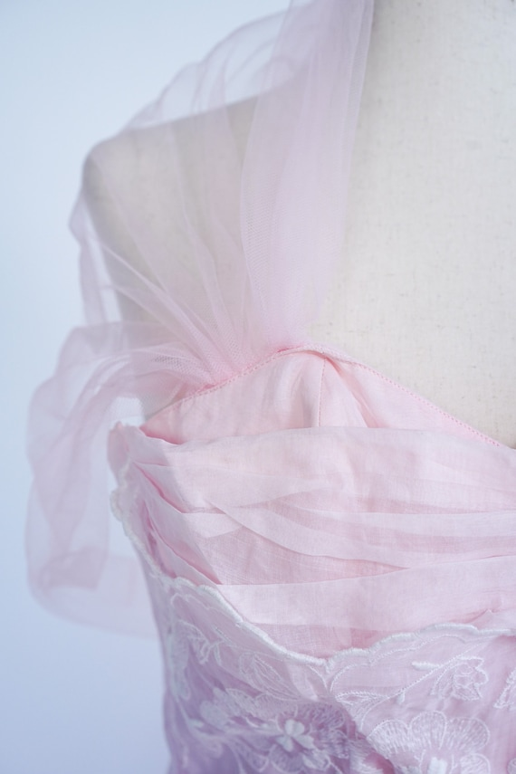 Pretty in Pink 1950s Vintage Pink Prom/ Party Dre… - image 5