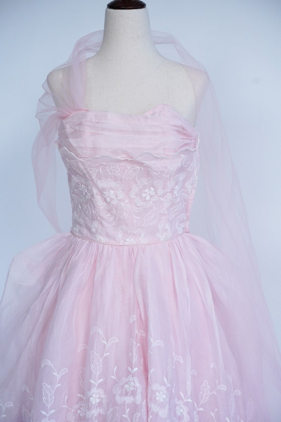 Pretty in Pink 1950s Vintage Pink Prom/ Party Dre… - image 2