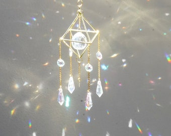 Sun catcher | Hanging Crystal Prism | Boho Décor | Housewarming Décor | Rainbow Maker | Suncatcher | Gift for her | Christmas Gifts