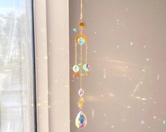 Sun catcher | Hanging Crystal Prism | Boho Décor | Housewarming Décor | Rainbow Maker | Suncatcher | Home Décor | Prism Suncatcher