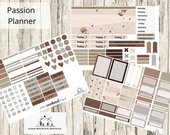 Casual Coffee - Passion Planner - Printable Weekly Kit
