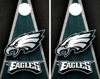 Philadelphia Eagles Cornhole Board Wraps Skins Vinyl Laminated HIGH QUALITY!