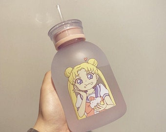 GTA Parody Sailor Moon Anime Gangster Style Moon Art Thug Life Travel Hiking Aluminium Water Bottle